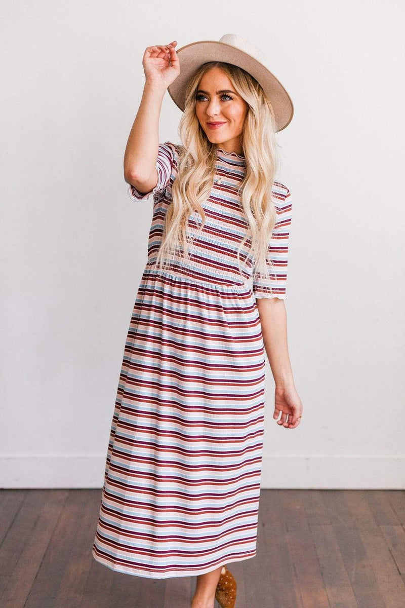 Dresses Kayla Smock Striped Dress