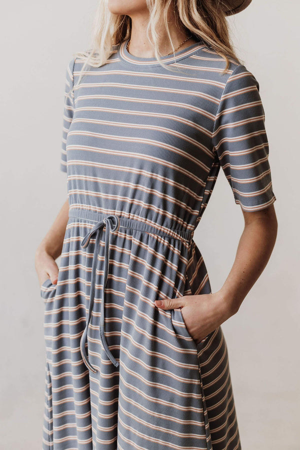 Dresses Kelsey Midi Knit Dress Dusty Blue