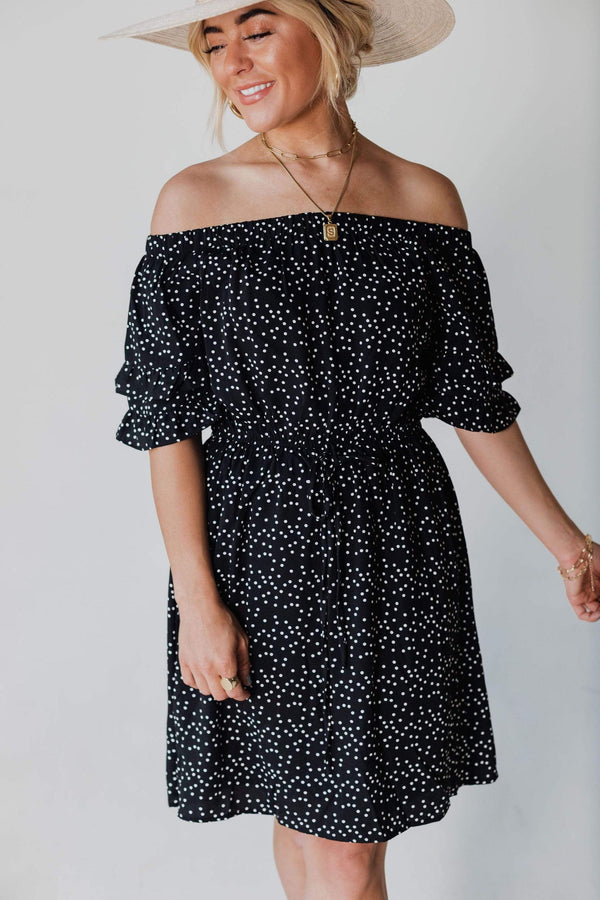 Dresses Leona Polka Dot Dress Black