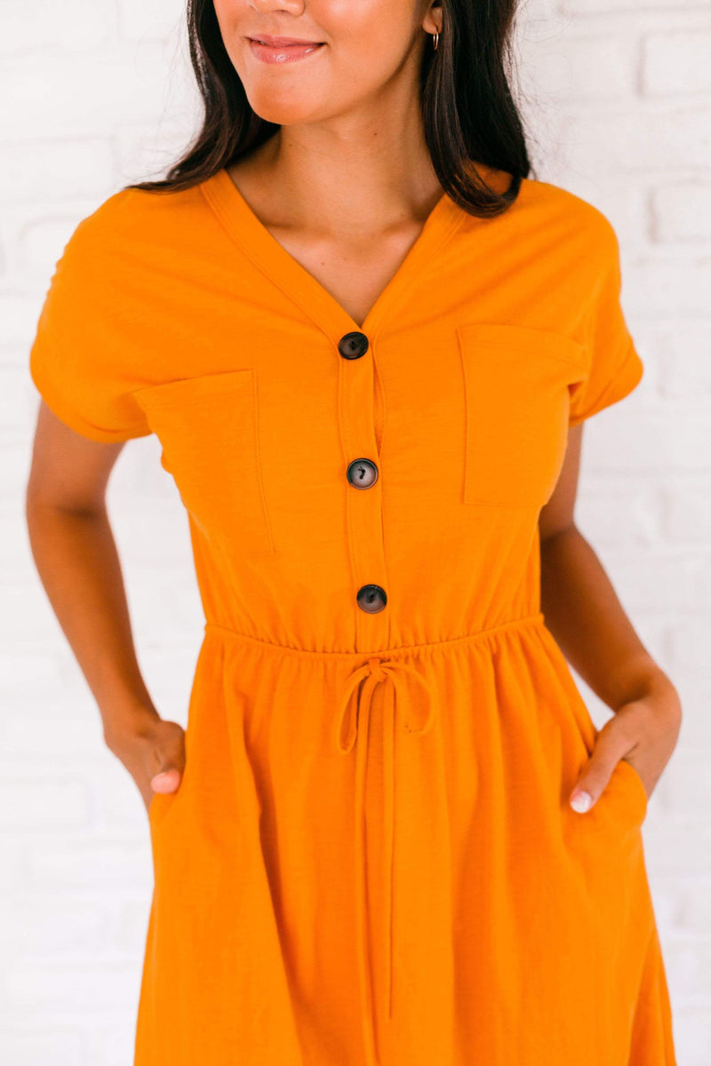 Dresses Madison Button Dress Pumpkin