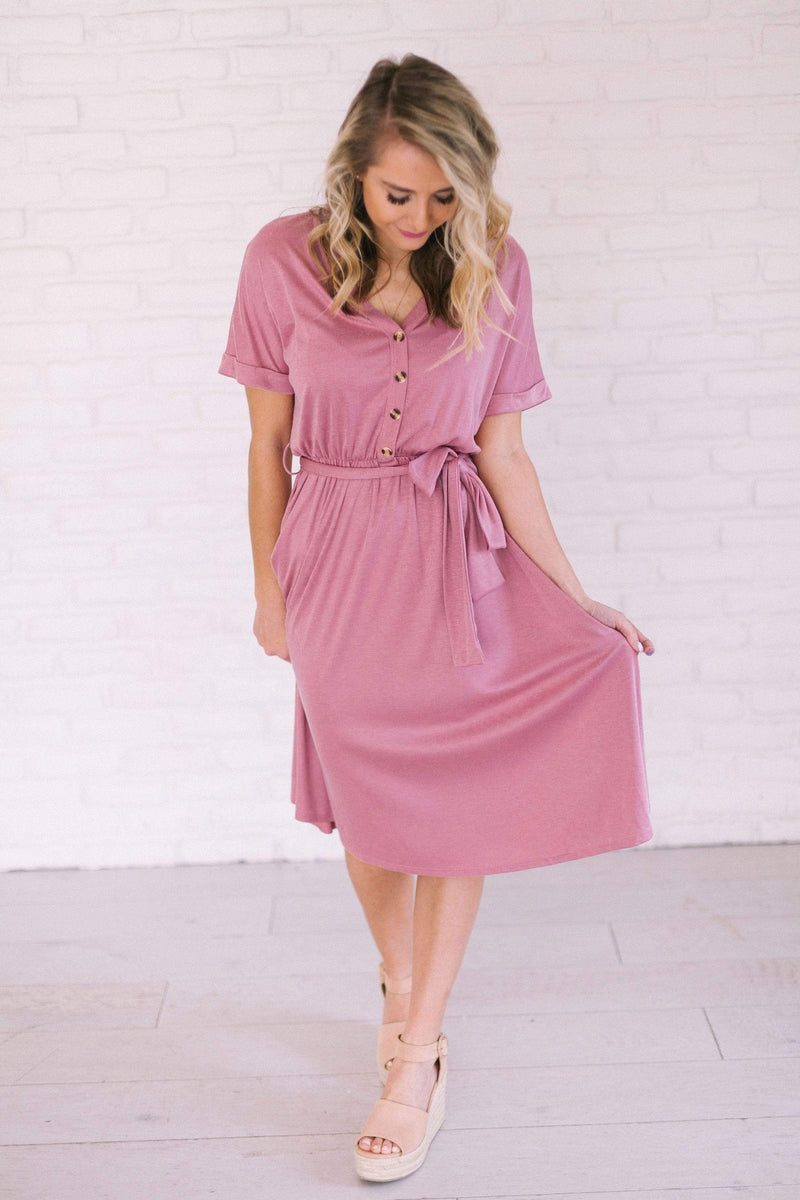 Dresses Maysie Ribbed Dress Mauve