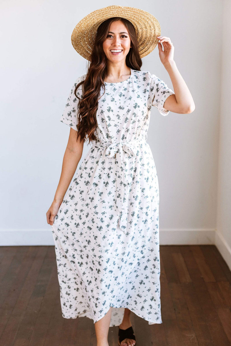 Dresses Odessa Floral Maxi Dress Ivory