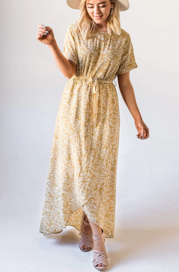 Dresses Odessa Floral Maxi Dress Yellow