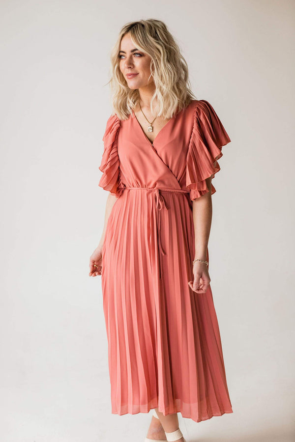 Dresses Ophelia Pleated Dress Mauve