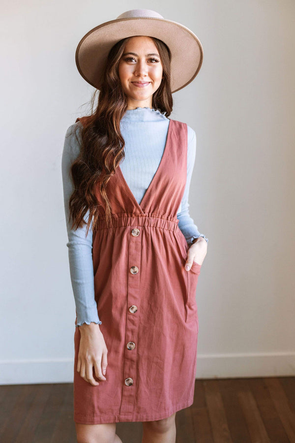 Dresses Ramona Jumper Dress Rust