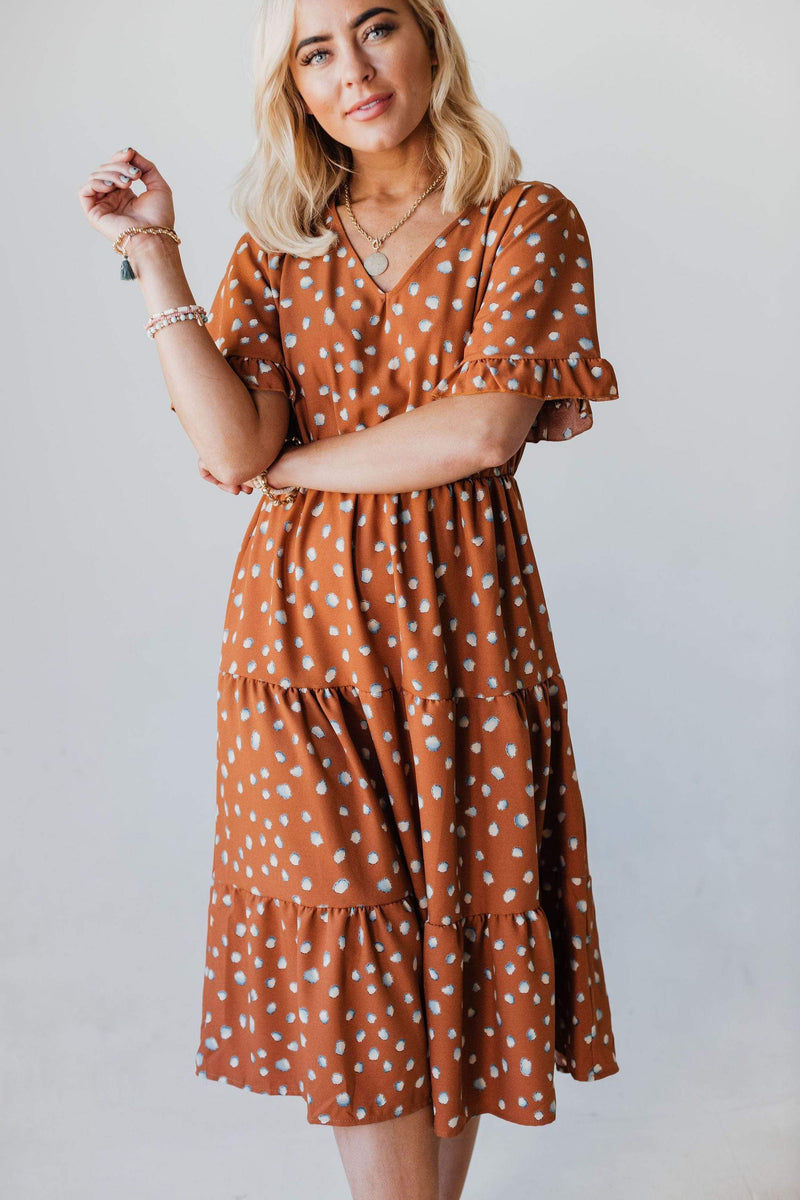 Dresses Saraphina Tiered Dress Rust