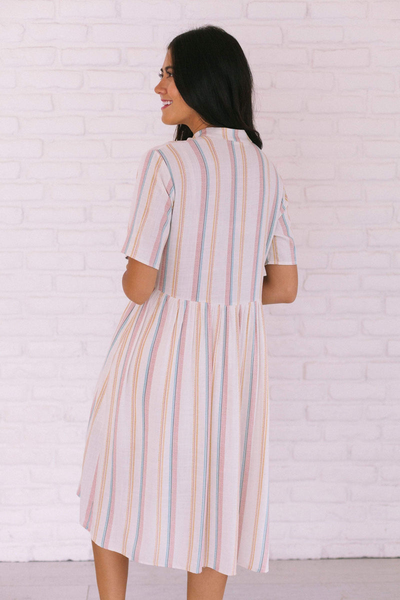 Dresses Tabitha Striped Dress Ivory