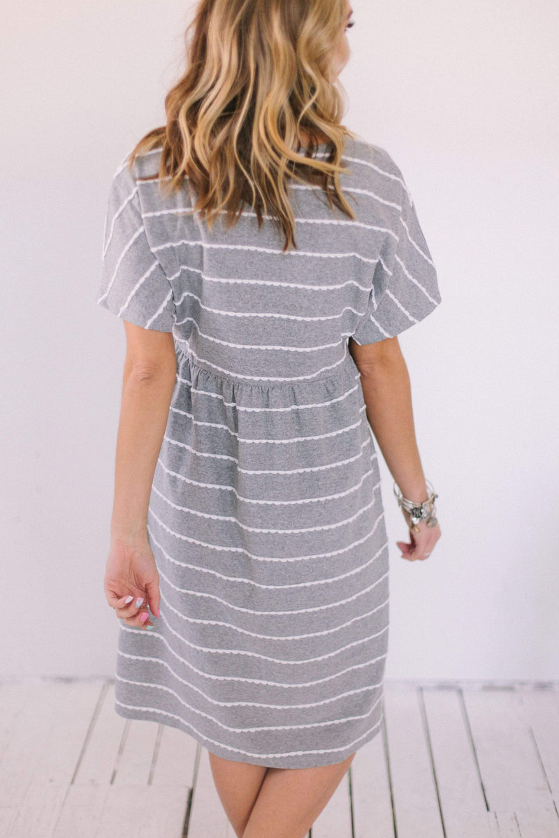 Dresses Tilly Scalloped Dress Grey