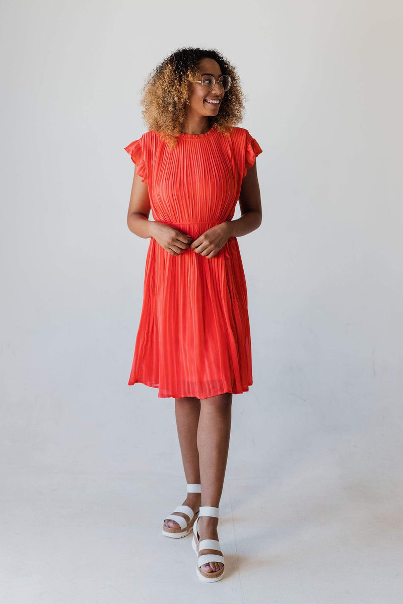 Dresses Wren Pleated Dress Coral