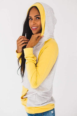 Hollyn Double Hoodie Mustard Small