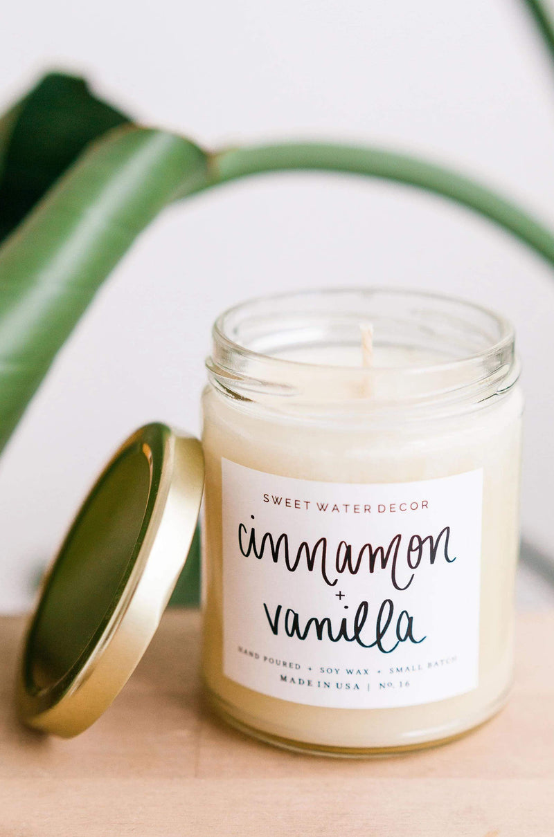 Home: Candles Cinnamon & Vanilla Soy Candle