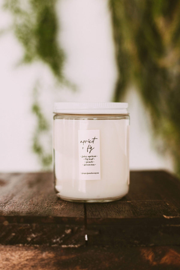 Home: Candles You're Like Really Pretty Candle- Apricot + Fig
