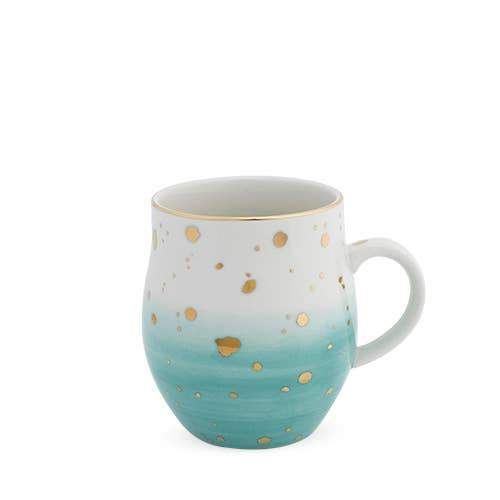 Home Green Speckled Mug