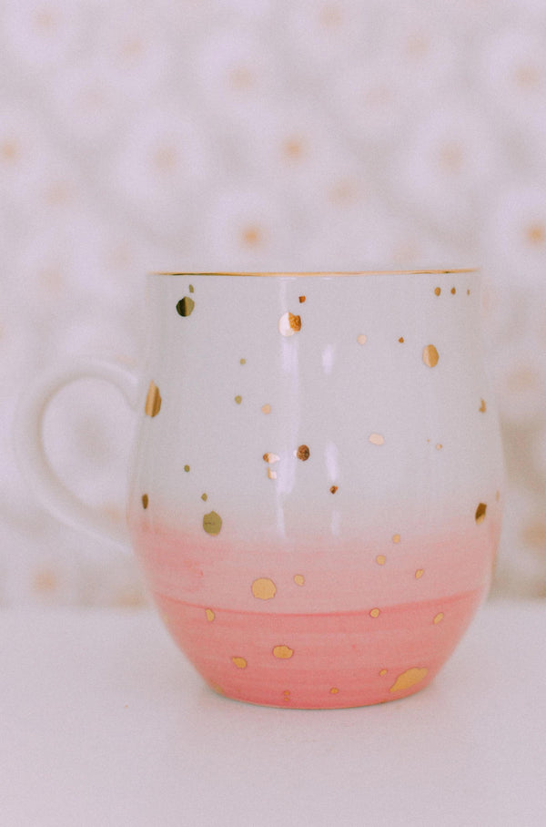 Home Pink Speckled Mug