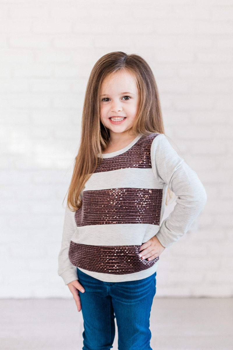 Kids Amber Sequins Top