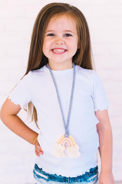 Kids Nicole Ruffled Top White