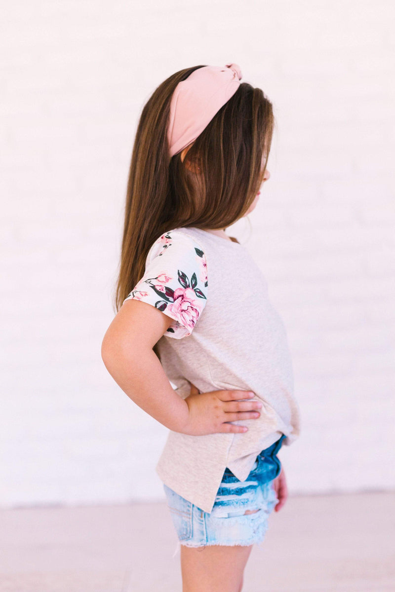 Kids Nora Madison Floral Sleeve Tee