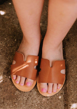 Kids Poppy Slip On Sandals Tan