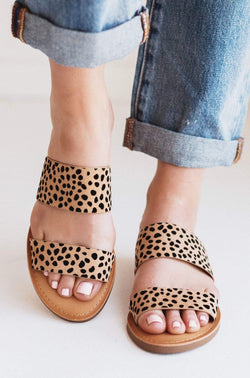 Shoes Allie Double Strap Sandal Cheetah