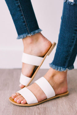 Shoes Athena Double Strap Sandals White