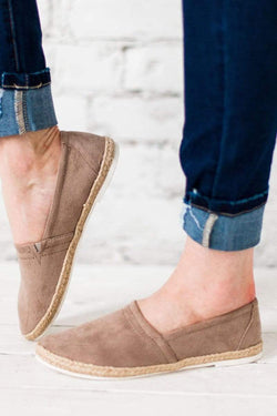 Shoes Booth Espadrille Flats Taupe