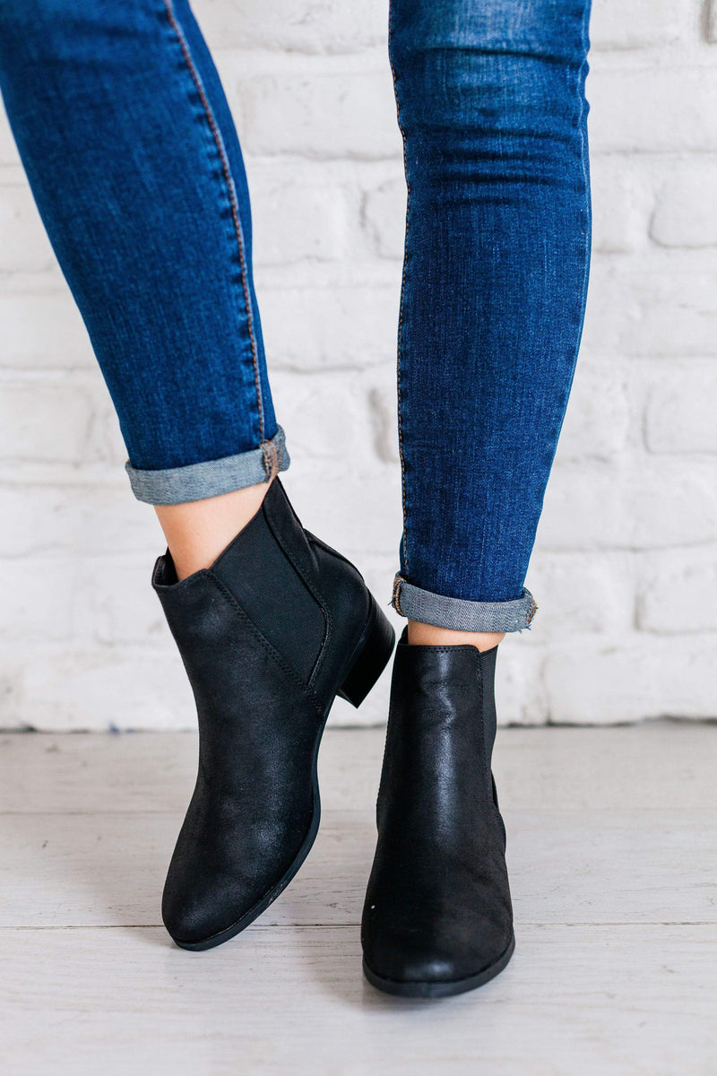 Shoes: Booties Chelsea Bootie Black