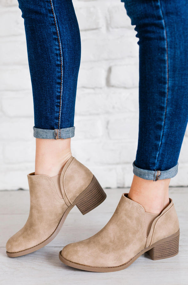 Shoes: Booties Philly Bootie Stone