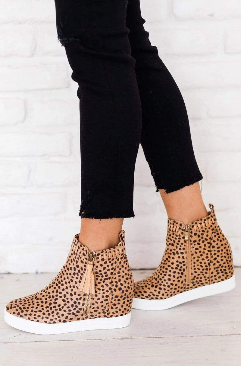 Shoes: Booties Taylor Wedge Sneakers Cheetah