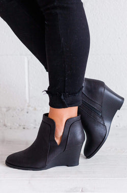 Shoes: Booties Wedge Booties Black