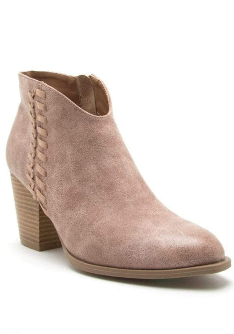 Shoes Braid Detailed Booties Taupe