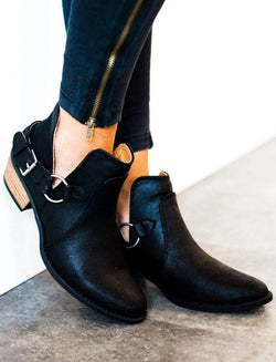 Shoes Buckled Booties Black 5.5