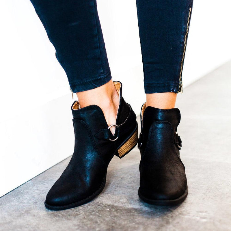 Shoes Buckled Booties Black