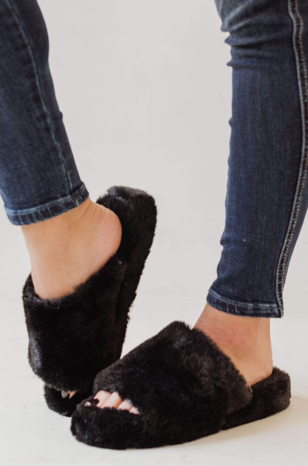 Shoes Cari Open Toe Slippers Black
