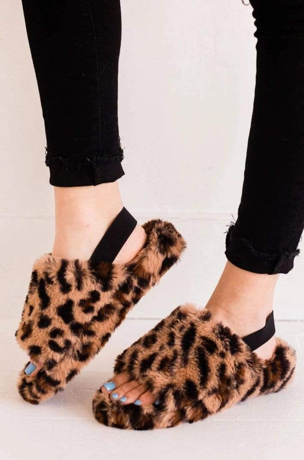 Shoes Cari Open Toe Slippers Leopard
