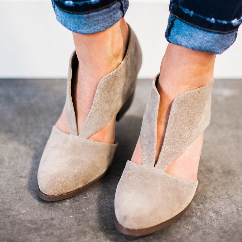 Shoes Carrie Faux Suede Heels Taupe