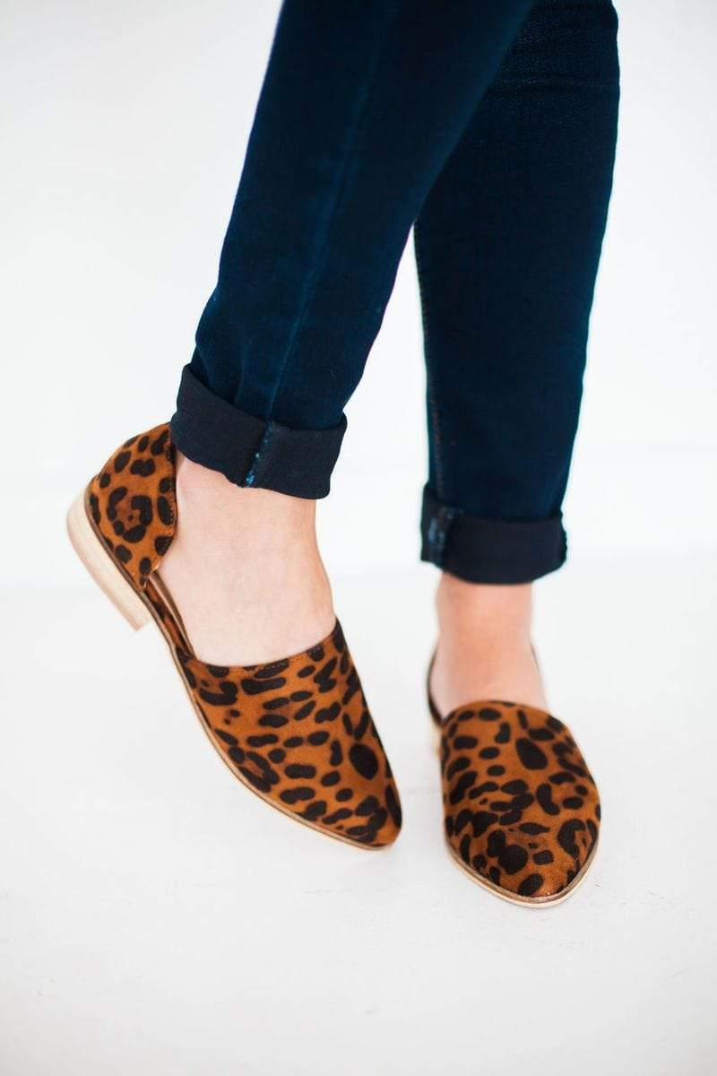 Shoes Carter Slip On Flats Leopard