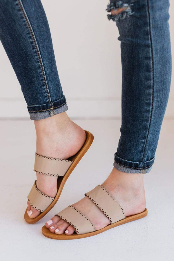 Shoes Cece Scalloped Sandals Nude