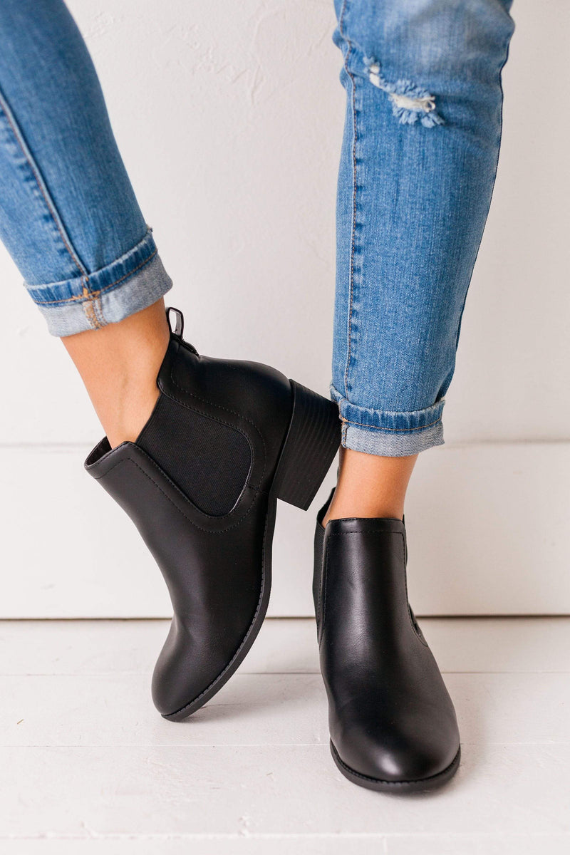 Shoes Chelsea Slip On Bootie Black