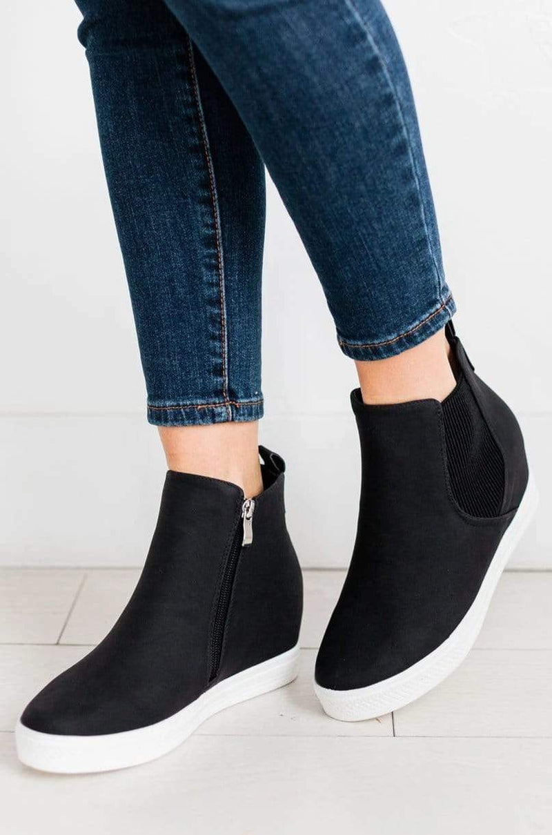 Shoes Chelsea Wedge Sneakers Black