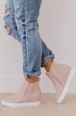Shoes Chelsea Wedge Sneakers Blush