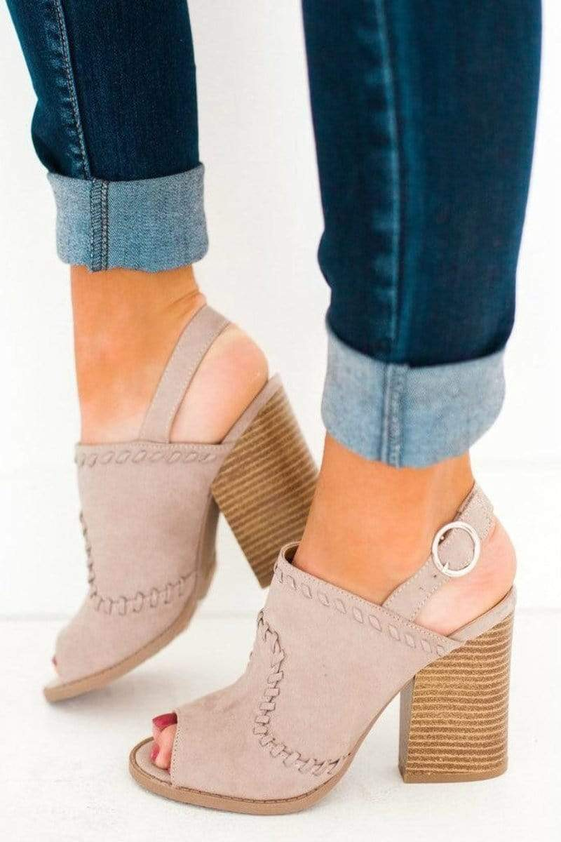 Shoes Dayoff Sling Back Bootie Taupe 5.5
