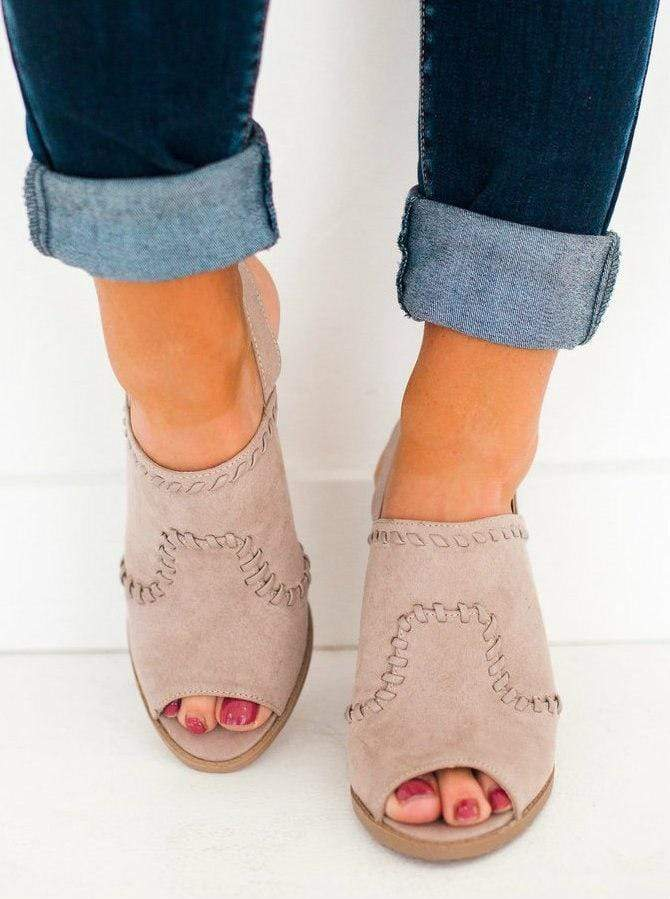 Shoes Dayoff Sling Back Bootie Taupe