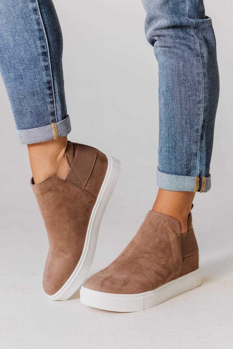 Shoes Diana Wedge Sneakers Taupe