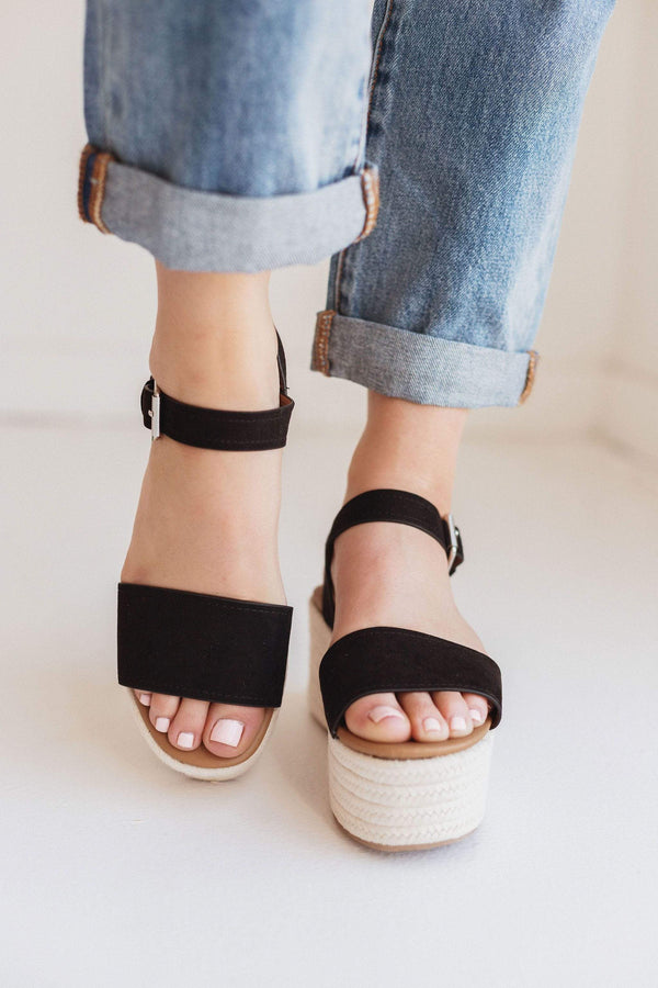 Shoes Elevate Platform Sandals Black