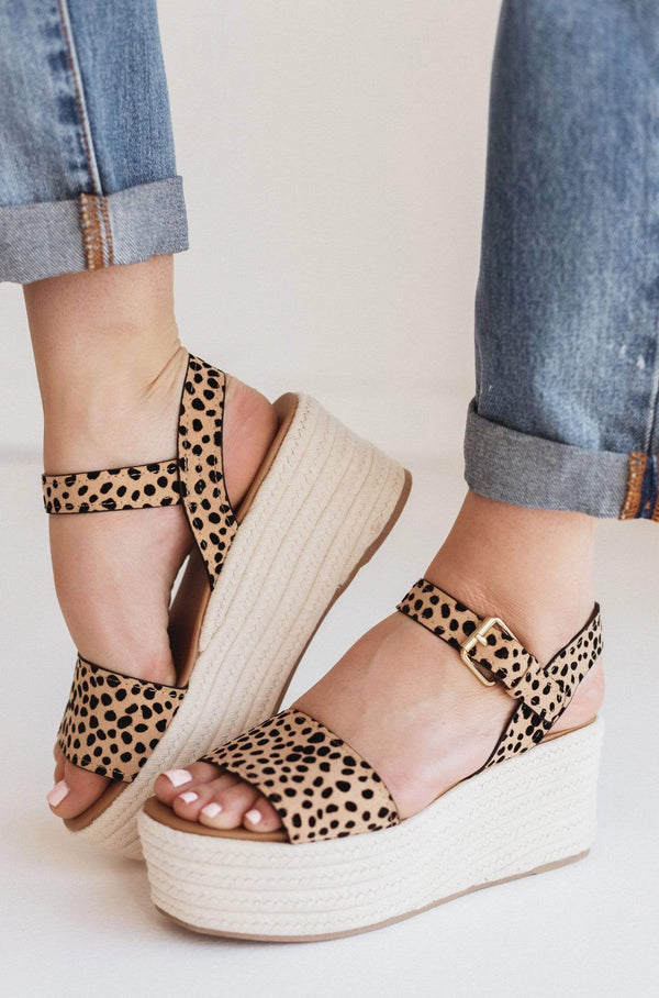 Shoes Elevate Platform Sandals Cheetah