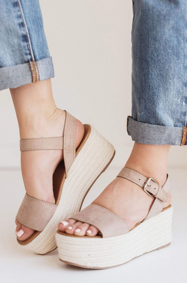 Shoes Elevate Platform Sandals Taupe