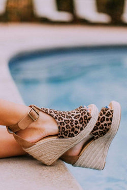 Shoes Espadrille Wedges Cheetah