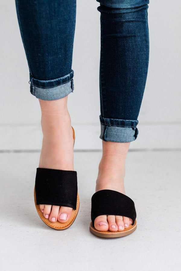 Shoes Everyday Slip On Sandals Black