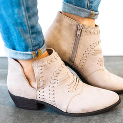 Shoes Favorite Booties Taupe 5.5