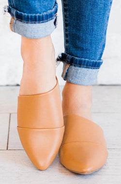 SHOES: FLATS Swirl Slip On Flats Tan